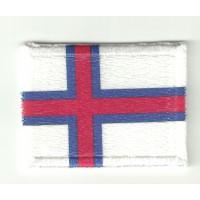 Parche textil y bordado BANDERA ISLA FEROE 7cm x 5cm