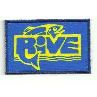 ,Embroidery and textile patch RIVE 8,5cm x 5,5cm