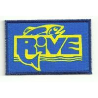 Parche bordado y textil RIVE 8,5cm x 5,5cm