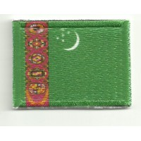 Patch embroidery FLAG TURKMENISTAN 4CM x 3CM