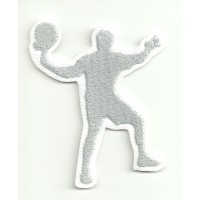 Patch embroidery SILHOUETTE PADDLE WHITE 5cm x 6cm