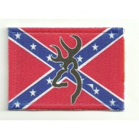 Embroidery and textile patch BROWNING CONFEDERATE 7cm x 5cm