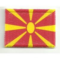 Parche bordado y textil MACEDONIA 7CM x 5CM
