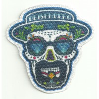 Patch embroidery end textile SKULL HEISENBERG 7,5cm