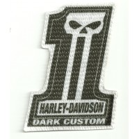 Parche textil HARLEY DAVIDSON DARK CUSTOM 6cm x 8,5