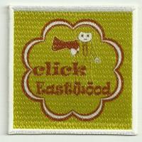 Parche bordado y textil CLICK EASTWOOD 7,5cm x 7,5cm
