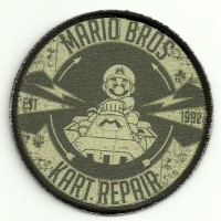 Patch embroidery and textile MARIO BROS KART 7,5cm