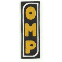 Patch embroidery OMP NEW BLACK YELLOW - VERTICAL 4,5cm x 14cm