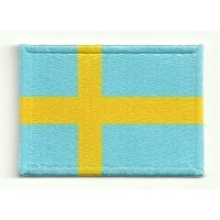Patch embroidery and textile FLAG SWEDEN 7CM x 5CM