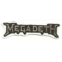 Textile patch MEGADETH 8cm x 2,5cm
