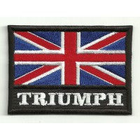 Patch embroidery ENGLAND FLAG TRIUMPH 7,5cm x 5,5cm