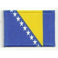 Patch embroidery and textile FLAG BOSNIA 4CM x 3CM