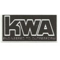 Parche textil KWA 9cm x 4,5cm