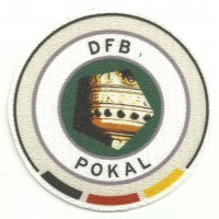 Textile patch DFB - POKAL 7cm diameter
