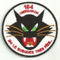 Patch embroidery 104 SQUADRON 7cm diameter
