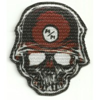 Textile patch HELMET SKULL METAL MULISHA 2 7cm x 8cm
