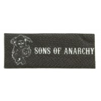 Textile patch SONS OF ANARCHY STIK 9,5cm x 3,5cm