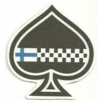 Textile patch ACE OF SPADES WITH YOUR FLAG 8cm x 8,5cm
