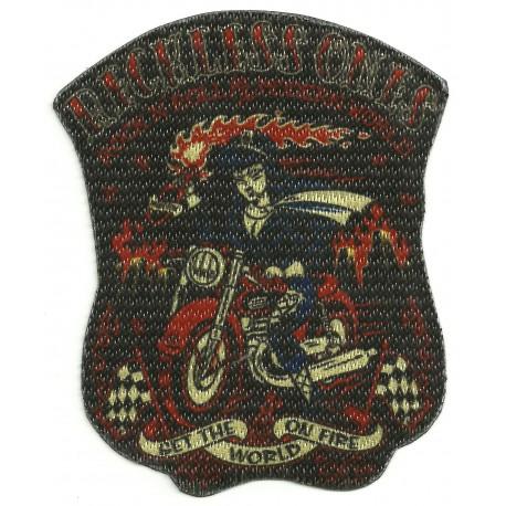 Textile patch RECKLESS ONES 8,5cm x 10cm