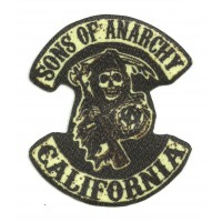 Textile patch SONS OF ANARCHY CALIFORNIA 8,5cm x 10cm