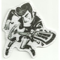 Patch textile ROCKABILLY 2 8cm x 8cm