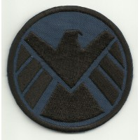 Patch embroidery AVENGERS background BLUE 7cm