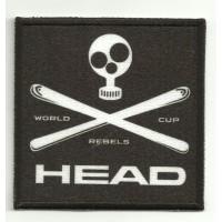 Parche bordado y textil HEAD 7,5cm x 7,5cm