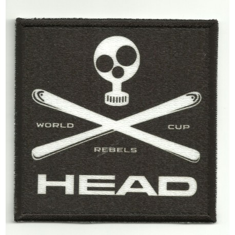 Patch embroidery and textile HEAD 7,5cm x 7,5cm