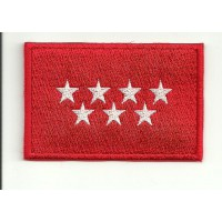 Patch embroidery FLAG MADRID 7CM X 5CM