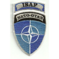 Patch embroidery ISAF NATO OTAN 5cm x 8,5cm