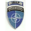 Parche bordado ISAF NATO OTAN 5cm x 8,5cm