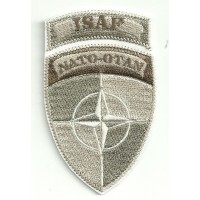 Patch embroidery ISAF NATO OTAN ARIDO 5cm x 8,5cm