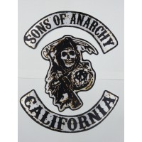 Parche textil SONS OF ANARCHY pack 3 28cm x 33cm