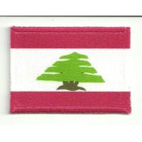 Parche textil y bordado BANDERA LIBANO 7CM x 5CM