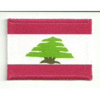 Patch textile and embroidery FLAG LEBANON 7CM x 5CM