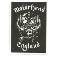 Parche textil MOTORHEAD ENGLAND 6.5cm x 9cm