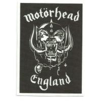 Textile patch MOTORHEAD ENGLAND 6.5cm x 9cm