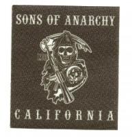 Parche textil SONS OF ANARCHY CALIFORNIA 7,5cm x 8,5cm