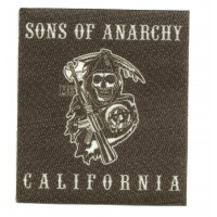 Textile patch SONS OF ANARCHY CALIFORNIA 7,5cm x 8,5cm