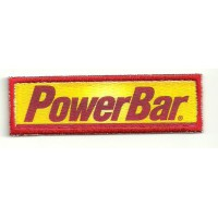 Embroidery and textile patch POWERBAR 8cm x 2,5cm