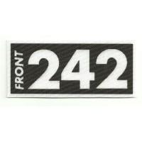 Textile patch FRONT 242 9.5cm x 4cm