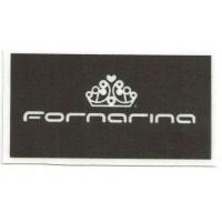 Textile patch FORNARINA 8cm x 4.5cm