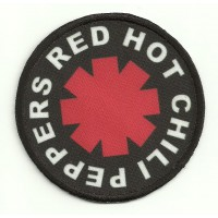 Parche textil y bordado RED HOT CHILI PEPPERS 7.5cm DIAMETRO