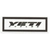 Parche textil YETI 10cm x 3.5cm