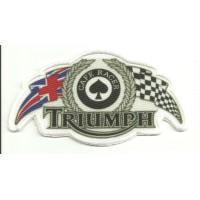Parche bordado y textil TRIUMPH - CAFE RACER 12cm x 6cm