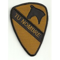 Patch embroidery 1st CAVALRY WHIT YOUR NAME 5,5cm x 8cm