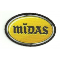 Parche bordado y textil MIDAS 8,5cm x 5,5cm