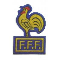 Parche textil FFF FEDERACION FRANCESA DE FUTBOL 8 cm x 5cm