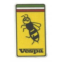Parche textil VESPA FERRARI 5cm x 8,5cm