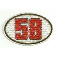 Parche textil 58 SIMONCELLI 7,5cm x 5cm